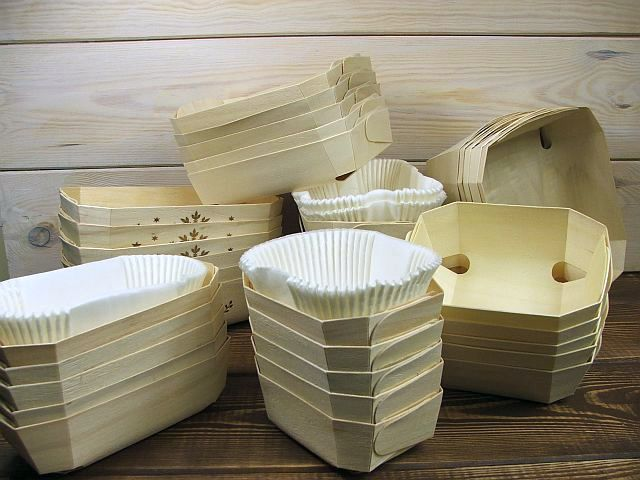 wooden baking moulds - offer
